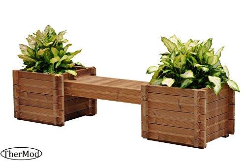 Organic Gardening Planter box Bench Modula 35