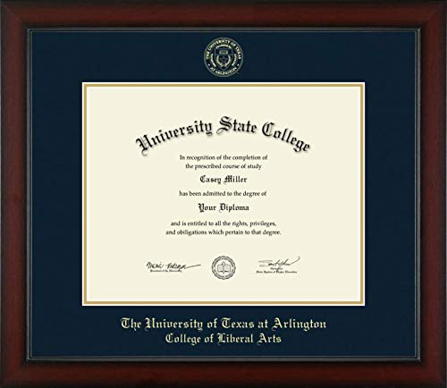 The University of Texas at Arlington College of Liberal Arts - Officially Licensed - Gold Embossed Diploma Frame - Diploma Size 14