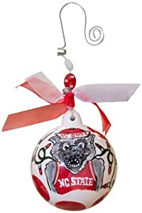 Glory Haus North Carolina State Ball Ornament, 4 by 4-Inch