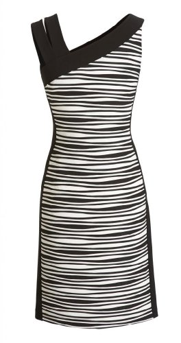 Joseph Ribkoff Assymetric Tank Style Black and White Dress Style 30956 - Size 12