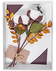 2nd Cotton Handmade Anniversary Card with Cotton Detail – 3D Card in Presentation Gift Box – Cotton Flowers Card for Men and Women