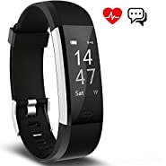 Fitness Tracker Activity Tracker Aneken Smart Band Heart Rate Sleep Monitor Waterproof Smart Bracelet Bluetooth Pedometer Wristband Smart Watches for Android and iOS Phones