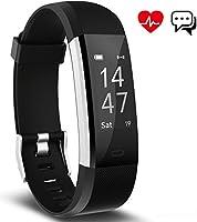 Fitness Tracker, Aneken Activity Tracker Orologio Fitness Braccialetto Fitness Impermeabile IP67 con Cardiofrequenzimetro da Polso Monitoraggio del Sonno Notifiche Chiamate e SMS per iOS e Android