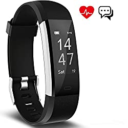 Fitness Tracker Activity Tracker Aneken Smart Band Heart Rate Sleep Monitor Waterproof Smart Bracelet Bluetooth Pedometer Wristband Smart Watches For Android & Ios Smart Phones