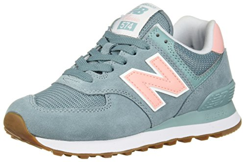 (New Balance Womens 574 Core Sneaker smoke blue 6.5 B US)