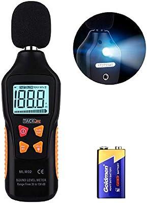 Tacklife MLM02 Medidor digital de nivel de sonido con rango de ...