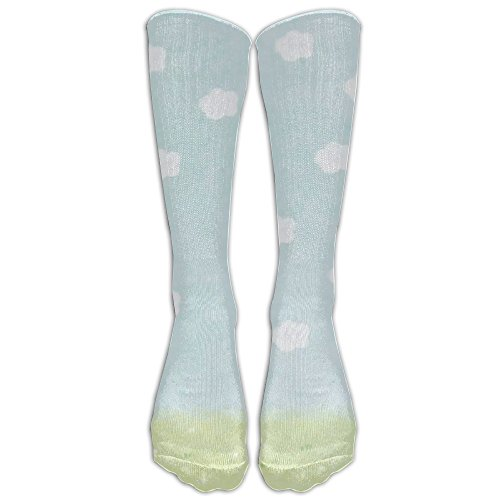 Cloud Grass Cartoon Comfort Casual Fashion Long Socks For Running ,Sport And Travel