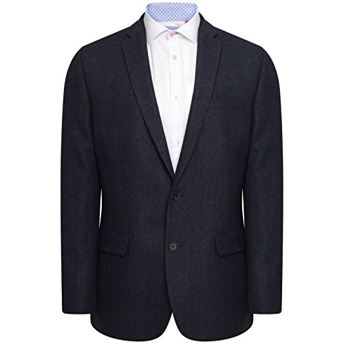 Fit Wool Blend - HARRY BROWN Blazer Wool Blend Tailored Fit in Navy 48S
