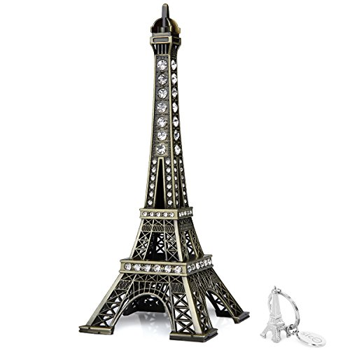 SICOHOME Eiffel Tower Cake Topper,7.0inch,Bronze