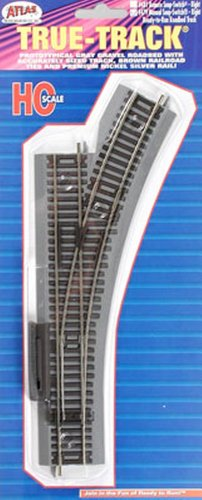 ATLAS MODEL 479 True-Track Manual Snap Switch Right True-Track (Ho Code 83 Snap Switch)