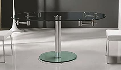 Amazon Com Casabianca Furniture Cb T030 Thao Stainless Steel Clear