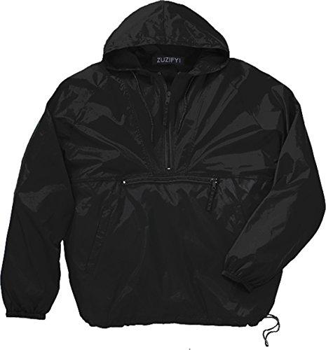 ZUZIFY Packable 1/4-Zip Hooded Nylon Jacket. EX0830 XL ()