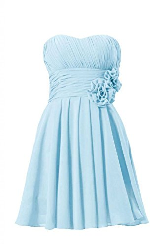 Dress Party Bridesmaid Blue ice Dress 40 BM2424 Short Strapless Sweetheart DaisyFormals wCqUYxB
