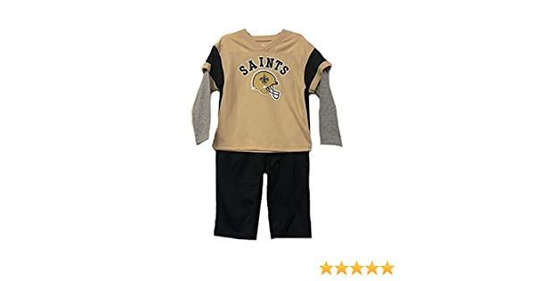 cc0a91ed3 Amazon.com  New Orleans Saints NFL Toddler 2 Piece Long Sleeve Shirt    Pants Set  Clothing