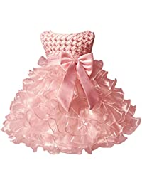 3f85f187a3 Baby Girl Dresses Ruffle Lace Pageant Party Wedding Flower Girl Dress