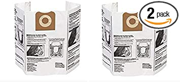 3 X Pack of 2 Dry Pickup Dust Bags for 12-16 Gallon Ridgid Wet//Dry Vacuums Ridgid VF3502 High Efficiency