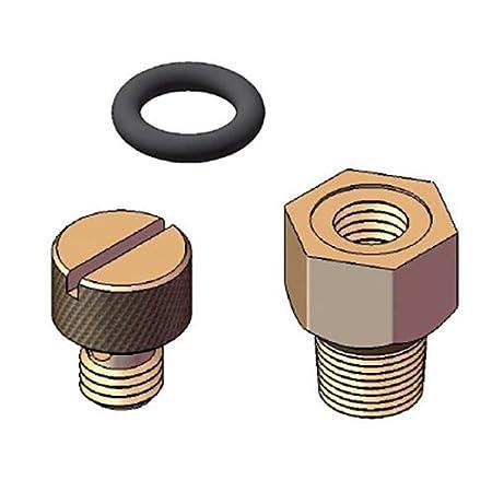 57602 Repair Automatic Sprinkler Valve Orbit Universal Bleed Plug Replacement for Brass Anti-Siphon Valves