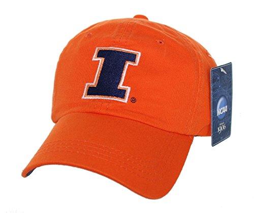 (New! University of Illinois Illini Adjustable Buckle Back Hat Embroidered Cap)