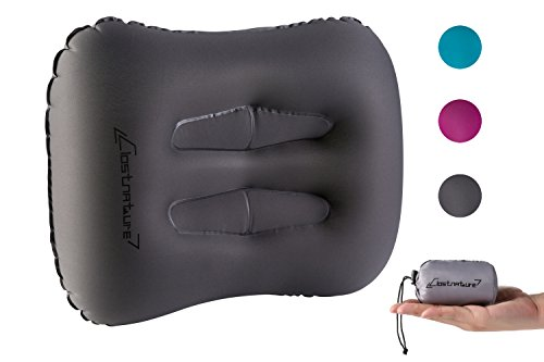 Clostnature Ultralight Inflatable Camping Pillow - Portable Backpacking Pillow for Hiking, Outdoor Sleeping, Neck and Lumbar Support, Car, Airplane Trip