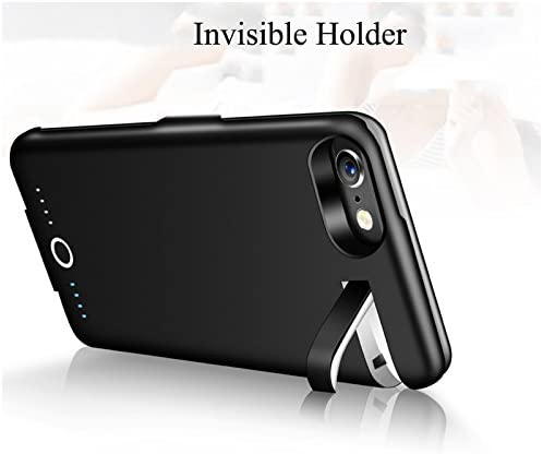 7 Black, iPhone 6 7 8//4.7 6 // Plus with 5000 mAh Extended Battery Pack Light Weight Charge Case BioRing Battery Case for iPhone 8 6S