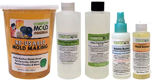 ComposiMold All-in-One Mold Making and Casting Pro Package, Epoxy Resin, Molding Material, Mold Release, and Bubble Buster