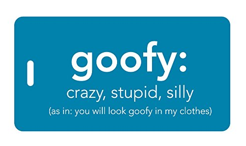 Inventive Travelware Funny Luggage Tag - Goofy: Crazy, Stupid, Silly Bright Colors
