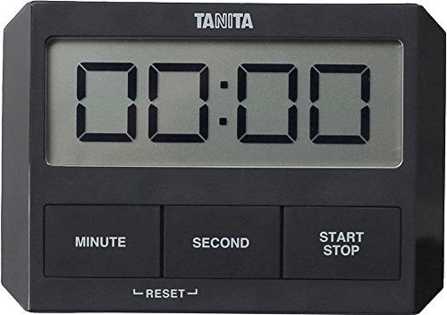 Tanita 타니타 타이머 초박형 블랙 TD-409 BK 유리에 붙는 타이머