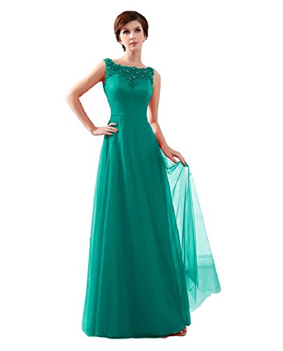 Dress Formal Emily the of Beauty dunkelgrün Mother Dresses Sleeveless bride O Long Evening Neck Lace ZBqwdOYq