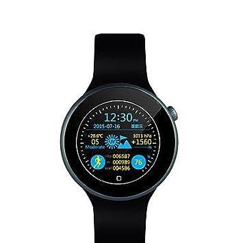 TR c1 reloj inteligente nueva c1 reloj inteligente 3d rotación de control de gestos de voz Siri corona de control UV altura del ritmo , black: Amazon.es: ...