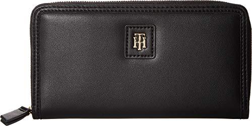 Tommy Hilfiger Women's Julia Large Zip Wallet Black One Size