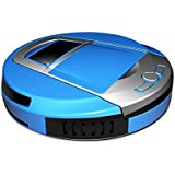 Robot Vacuum Cleaner Automatic Self-Charging Ultrasonic Obstacle and Auto-Detection(Blue)