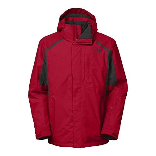 The North Face Vortex Triclimate Jacket Mens TNF Red/Asphalt Grey M