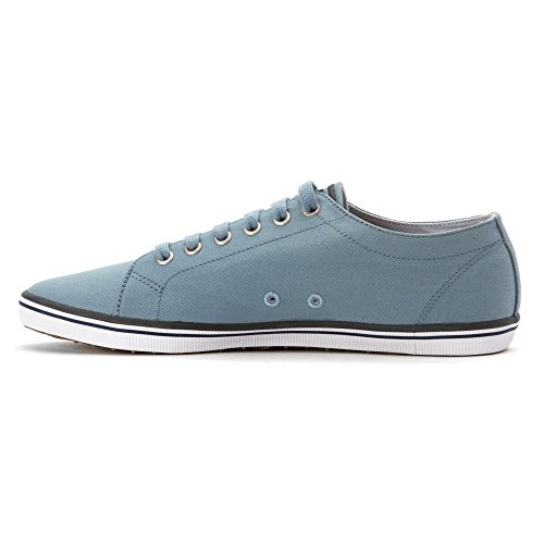 Fred Perry Hombres Kingston Twill Fashion Sneaker Sub Blue