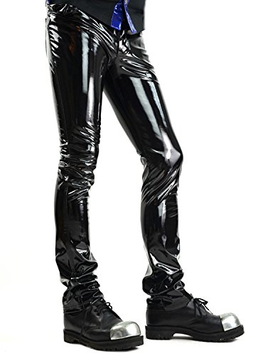 Goth Punk Vinyl (24HRS by Lip Service Black Vinyl PVC Gothic Punk Rocker Cyber Goth Jeans Pants (28))
