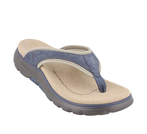 - Taos Footwear Women's Aura Blue/Grey Sandal 10 M US