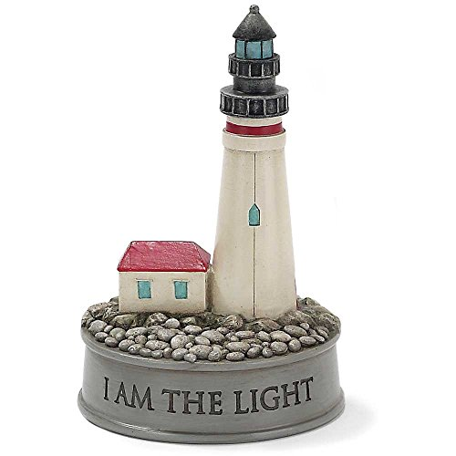 I AM the Light Lighthouse 4 inch Resin