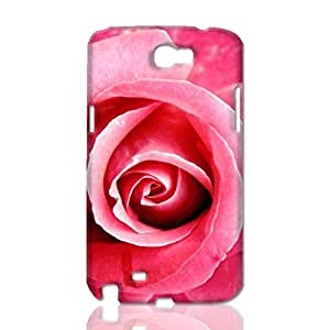 Beautiful Pink Rose 3D Rough Case Skin, fashion design image custom, durable hard 3D case cover, Case New Design for Samsung Galaxy Note 2 , By Codystore