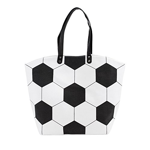 (Me Plus Sports Baseball-Softball-Football Design Tote Hand Bags/Fashion Shoulder Bags/X-Large 21 IN. (Soccer))