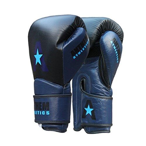 Anthem Athletics STORMBRINGER Fight Gloves - Muay Thai, Boxing, Striking, Kickboxing, 100% Premium Leather - Black, Navy & Blue - 12 - Women Anthem