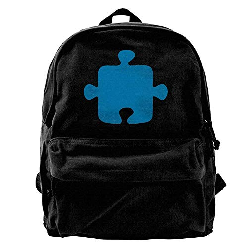 DKFDS Backpacks Jigsaw Puzzle Piece-Vector Design Outdoor Backpack School Bags Travel Backpack Canvas Christmas Backpack ()