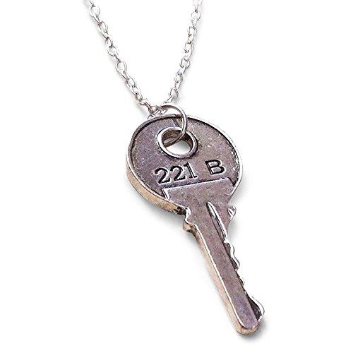 Sherlock Holmes Accessories (Sherlock 221B Baker Street House Key Necklace)