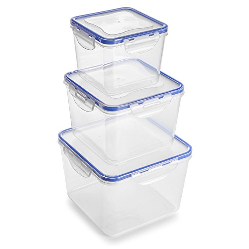 Food Storage Containers with Lids-6Piece Set(3Containers and 3Lids)[88Oz,54Oz,27Oz]Airtight Leak Proof Meal Prep Containers - BPA Free Plastic Food Containers-Freezer&Microwave&Dishwasher Safe-GT2010