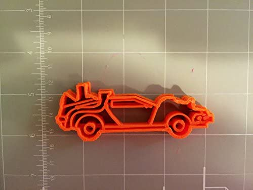 Silver CybrTrayd Race Car Cookie Cutter