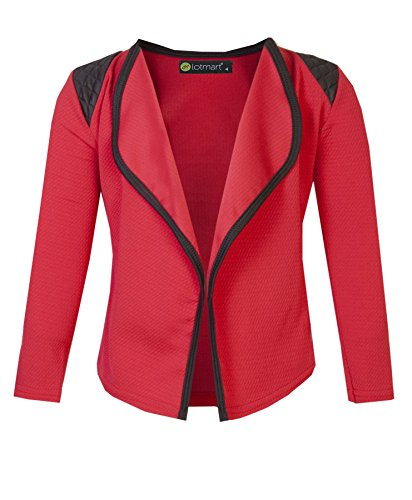 2775 Bright Red 13-14 Y Girls Blazer (Bright Red)