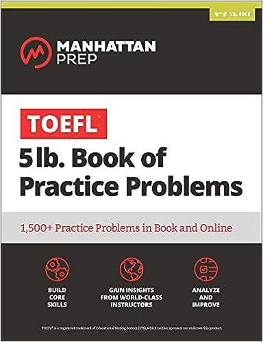 5 lb  Book of TOEFL Practice Problems: Book + Online Resources