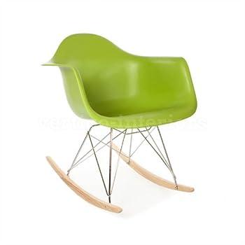 Eames Style RAR Rocking Arm Lounge Chair - Green