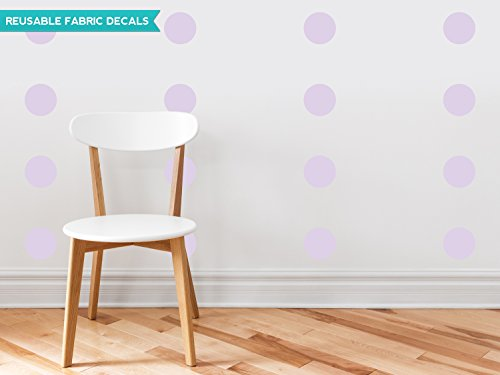 Polka Dot Fabric Wall Decals - Set of 48-4
