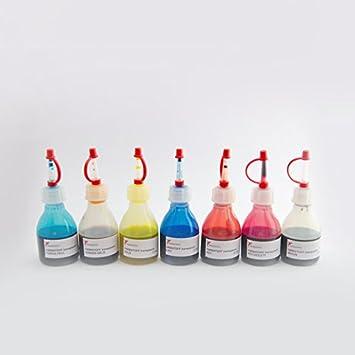 Farbstoff transparent flüssig Set 7 mal 20 mL zum Einrühren in die ...