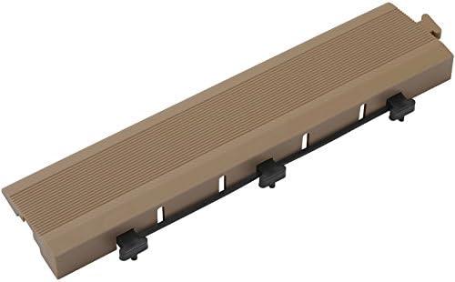 タカショー ジョイントデッキ エッジ ブラウン 約W30×D7.5×H2.5cm