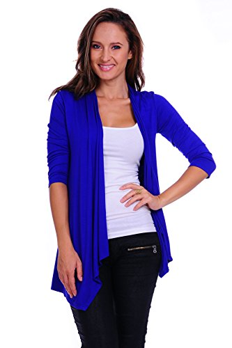 - SR Women's Basic 3/4 Sleeve Open Cardigan (Size: Small-5X), 3X, Royal